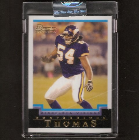 DONTARRIOUS THOMAS - 2004 Bowman Uncirculated RC - Auburn Tigers & San Diego Chargers