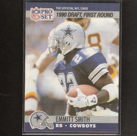 EMMITT SMITH - 1990 Pro Set ROOKIE CARD - Florida Gators & Dallas Cowboys