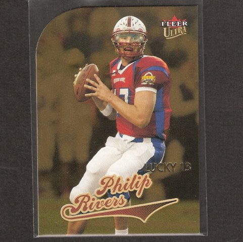 PHILIP RIVERS 2004 Fleer Ultra GOLD ROOKIE CARD - NC State & San Diego Chargers