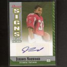 JERIOUS NORWOOD - 2006 Bowman AUTOGRAPH Rookie - Mississippi State & Atlanta Falcons