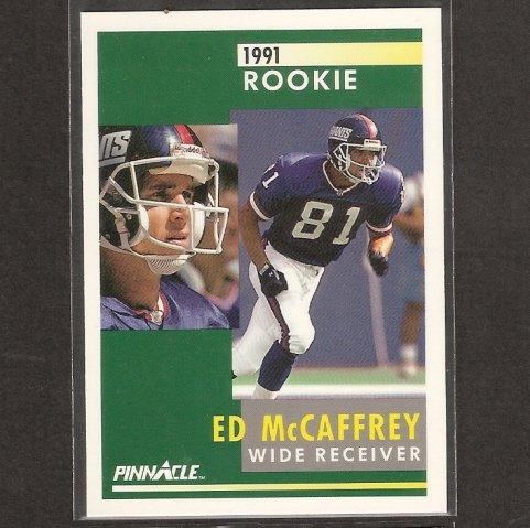 ED McCAFFREY 1991 Pinnacle ROOKIE CARD - Broncos, Giants, 49ers & Stanford Cardinal