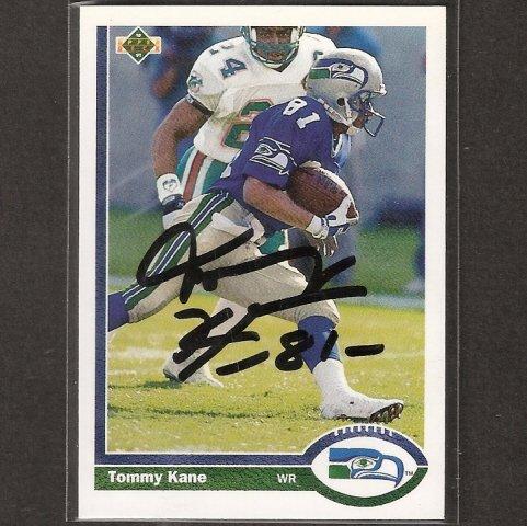 TOMMY KANE - Seahawks & Syracuse - AUTOGRAPH