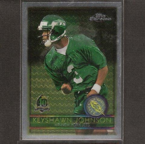 KEYSHAWN JOHNSON - 1996 Topps Chrome Rookie - Jets, Buccaneers, Cowboys, Panthers & USC Trojans