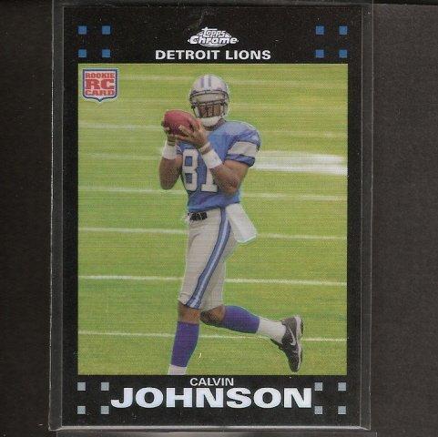 CALVIN JOHNSON - 2007 Topps Chrome REFRACTOR RC - Lions & Georgia Tech Yellow Jackets