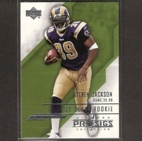 STEVEN JACKSON - 2004 Upper Deck Diamond Collection RC - St. Louis Rams & Oregon State Beavers