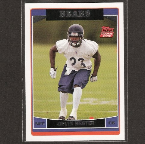 DEVIN HESTER 2006 Topps ROOKIE - Bears & Miami Hurricanes