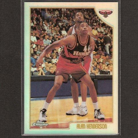 ALAN HENDERSON 1998-99 Topps Chrome REFRACTOR - Hoosiers & Atlanta Hawks