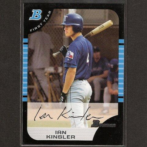 IAN KINSLER - 2005 Bowman ROOKIE CARD - Texas Rangers