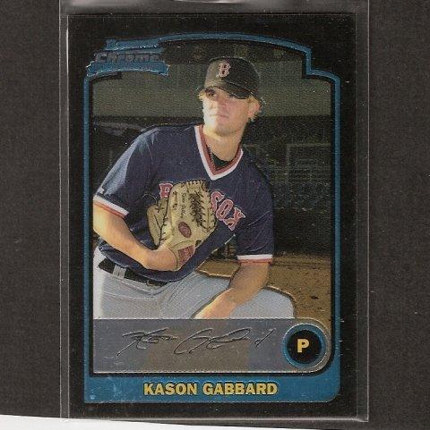 KASON GABBARD - 2003 Bowman Chrome ROOKIE CARD - Red Sox