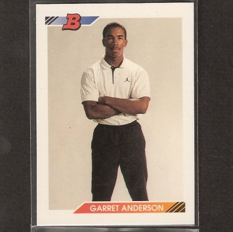 GARRETT ANDERSON - 1992 Bowman ROOKIE CARD - LA Angels & Atlanta Braves
