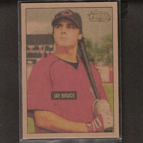 JAY BRUCE - 2006 Bowman Heritage Mahagony ROOKIE - Cincinnati Reds