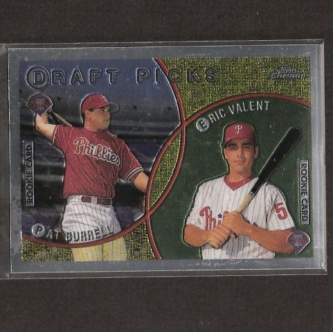 PAT BURRELL - 1999 Topps Chrome ROOKIE CARD - Tampa Bay Rays