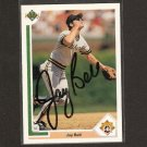 JAY BELL - Pittsburgh Pirates - 1991 Upper Deck AUTOGRAPH