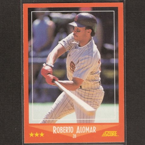ROBERTO ALOMAR - 1988 Score Update/Traded ROOKIE - Orioles, Padres & Indians