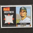 ERIC CHAVEZ - 2005 Bowman Heritage Game-Used JERSEY - Oakland A's
