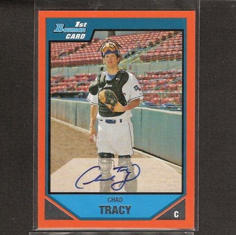 CHAD TRACY - 2007 Bowman Orange AUTOGRAPH ROOKIE CARD - Diamondbacks