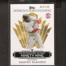 MANNY RAMIREZ - 2008 Topps Moments & Milestones - Red Sox & Dodgers