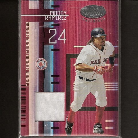MANNY RAMIREZ - 2005 Leaf Certified Materials Game-Used JERSEY - Red Sox & Dodgers