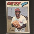 LUIS TIANT - 1977 Topps Cloth Sticker - MINT - Red Sox