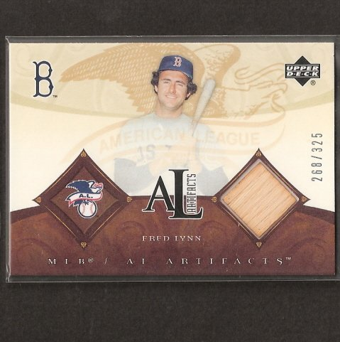 FRED LYNN - 2005 Upper Deck  AL Artifacts Game-Used BAT - Red Sox
