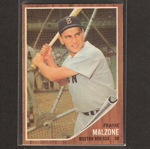 FRANK MALZONE - 1962 Topps - RED SOX