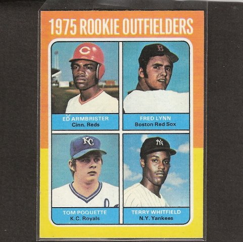 FRED LYNN - 1975 Topps - RED SOX ROOKIE