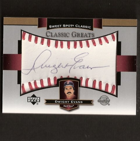 DWIGHT EVANS - 2003 SWEET SPOT Classic - Autograph - Boston Red Sox