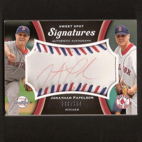 JONATHAN PAPELBON - 2008 SWEET SPOT - Autograph - Boston Red Sox, Phillies