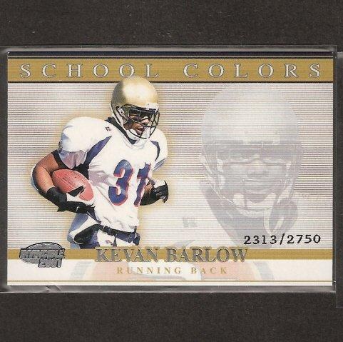 KEVAN BARLOW - 2001 Pacific Invincible School Colors- Pittsburgh Panters
