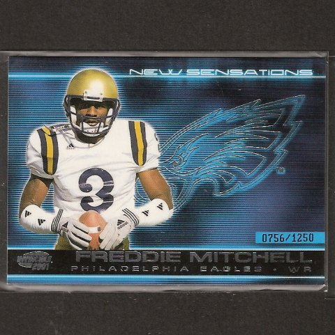 FREDDIE MITCHELL - 2001 Pacific Invincible New Sensations- Eagles &  UCLA Bruins