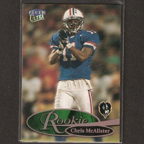 CHRIS McALISTER - 1999 Fleer Ultra ROOKIE - Ravens, Saints & Arizona Wildcats