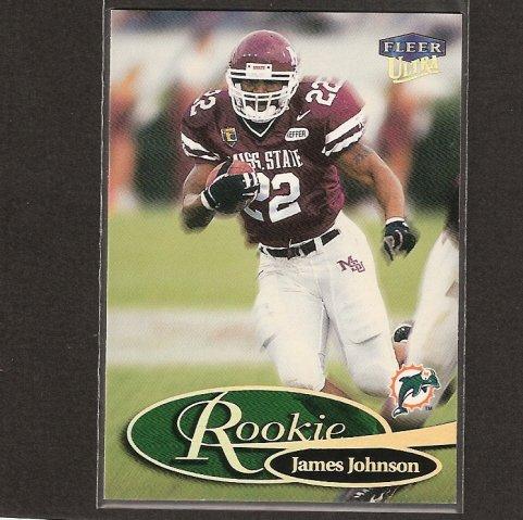 JAMES JOHNSON - 1999 Fleer Ultra ROOKIE - Mississippi State