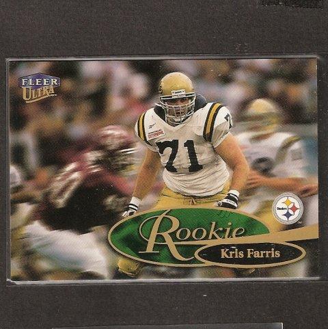 KRIS FARRIS - 1999 Fleer Ultra ROOKIE - Steelers, Bills & UCLA Bruins