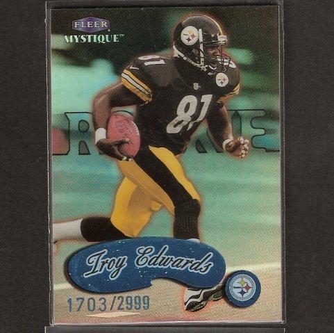 TROY EDWARDS - 1999 Fleer Mystique ROOKIE Short Print - Steelers & Louisiana Tech
