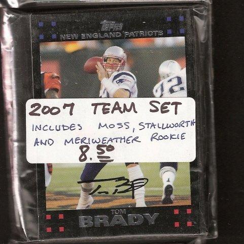 2007 New England PATRIOTS Team Set - Topps