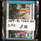 1989-90 Hartford WHALERS Team Set - O-Pee-Chee