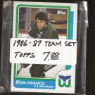 1986-87 Hartford WHALERS Team Set - Topps