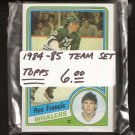 1984-85 Hartford WHALERS Team Set - Topps