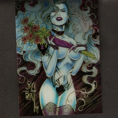 1994 LADY DEATH CHROMIUM Chase Card - CHAOS! COMICS