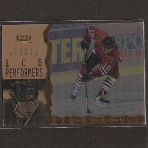 TONY AMONTE - 1996-97 Upper Deck ICE PARALLEL - Blackhawks & BU Terriers