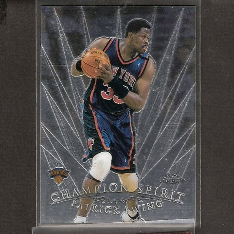 PATRICK EWING - 1998-99 Topps Chrome Champion Spirit - NY Knicks & Georgetown  Hoyas