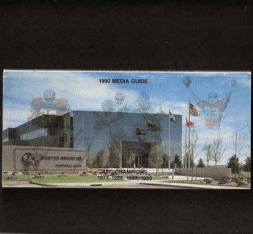 1990 Denver BRONCOS MEDIA GUIDE