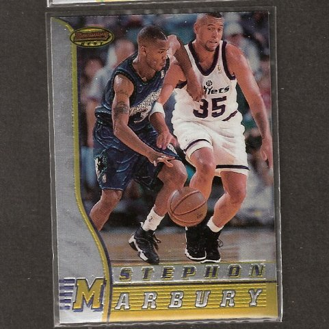 STEPHON MARBURY- 1996-97 Bowman's Best ROOKIE - Georgia Tech