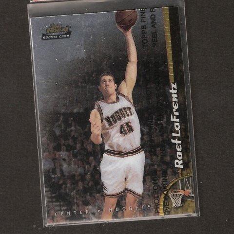 RAEF LaFRENTZ - 1997-98 Finest ROOKIE - Kansas Jayhawks & Trailblazers