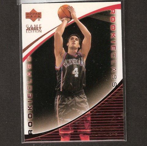 CHRIS MIHM - 2000-01 Upper Deck Game Jersey Edition ROOKIE - Memphis Grizzlies & Longhorns