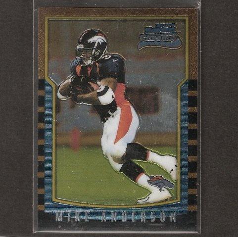 MIKE ANDERSON - 2000 Bowman ROOKIE CARD - Broncos, Ravens & Utah