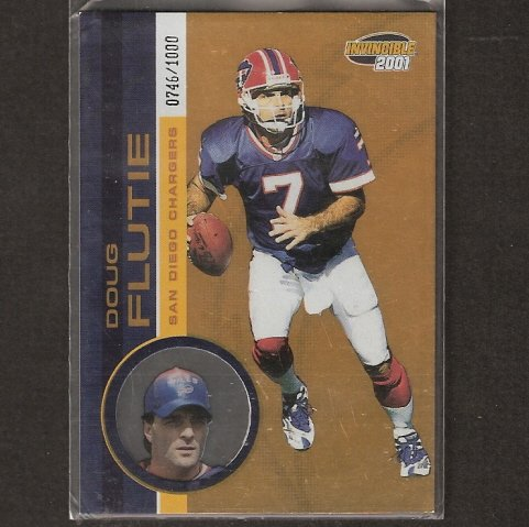 DOUG FLUTIE - 2001 Pacific Invincible - Boston College Eagles