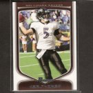 JOE FLACCO - 2009 Bowman Draft WHITE - Baltimore Ravens