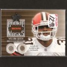 WILLIAM GREEN - 2002 Leaf Rookies & Stars - Facemask Relic RC - Browns & Boston College
