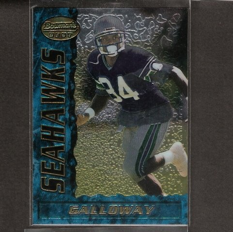 JOEY GALLOWAY - 1995 Bowman's Best RC - Seahawks, Redskins & Ohio State Buckeyes